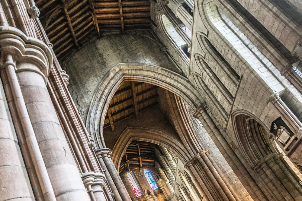 View of the transept in the stunning Hexham Abbey
