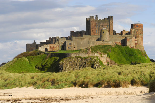 Bamburgh Castle overlooking the amazing beach