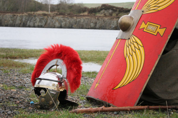 Roman Helmet and Shield at Cawfields